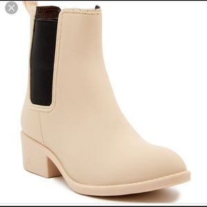 """Jeffrey Campbell """"Stormy Rainboots"""" Taupe"""